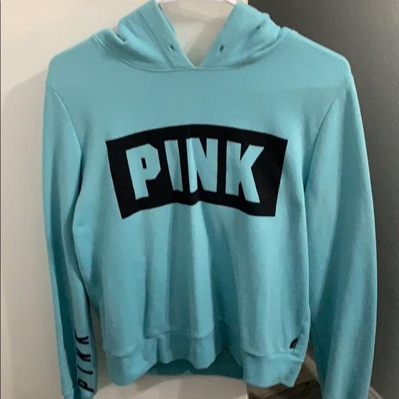 PINK Jackets & Blazers - A Women's Blue Pink hoodie